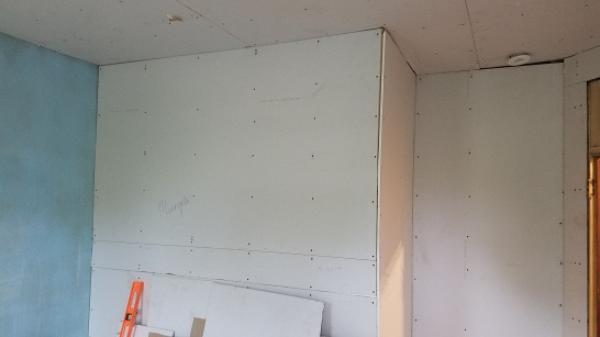 Check out that fresh drywall