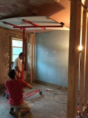 Hoisting up that heavy piece of drywall